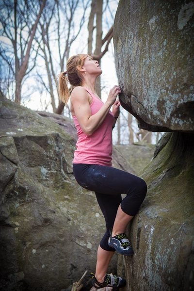 Rock Climbing Photo: small hands love crimps