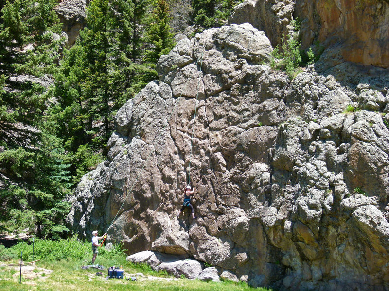 Rock Climbing Photo: Very easy to hike and set up a TR if you can't/don...