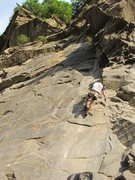 Rock Climbing Photo: Climber from California on his way down from the r...