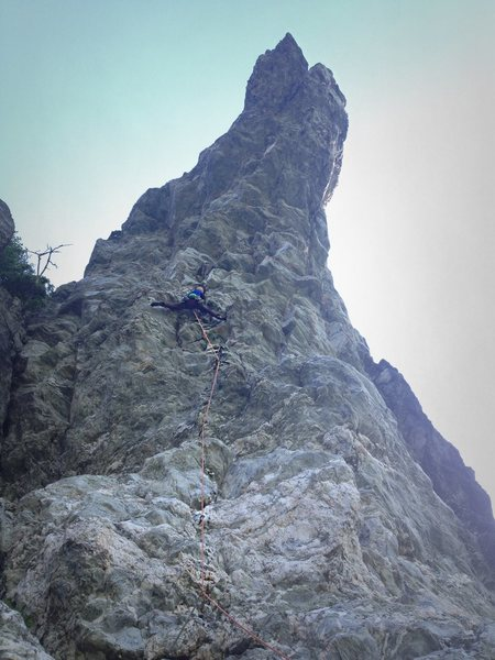 Rock Climbing Photo: Seth Tart flashing Windigo for the first time sinc...