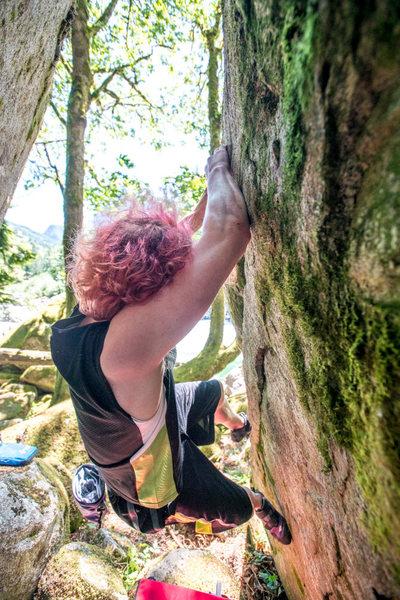 Rock Climbing Photo: Ben Taylor climbing the first few moves.