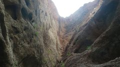 Rock Climbing Photo: A Slot Canyon In Lake Mead Narrows... looks inviti...