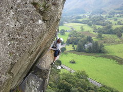 Rock Climbing Photo: The Bludgeon E1 5b . Borrowdale. Lake District UK
