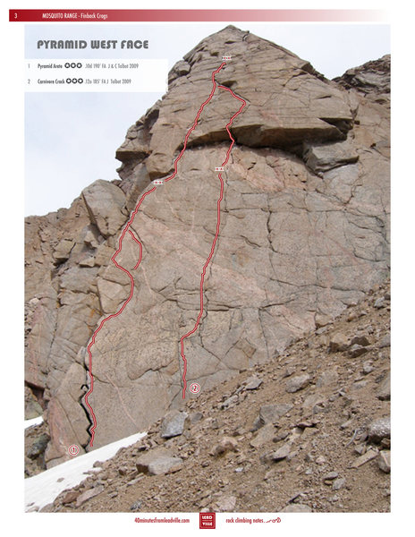 Picture the Pyramid Arete and Carnivore Crack.