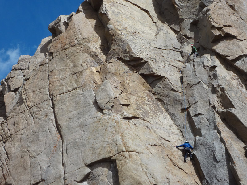 Rock Climbing Photo: Peter Kernan and Jack Fields on the second pitch o...