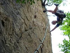 Rock Climbing Photo: Li Qiang rejoices his send!