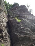 Rock Climbing Photo: Rappen off Dirty Sanchez 5.7 sport  Ralph Stover