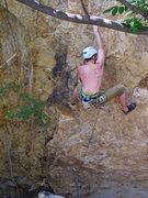 Rock Climbing Photo: Karel crushing it