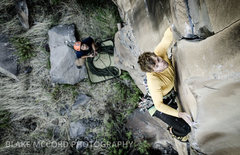 Rock Climbing Photo: J.Snyder on Hocus Focus. The White Wall. Paradise ...