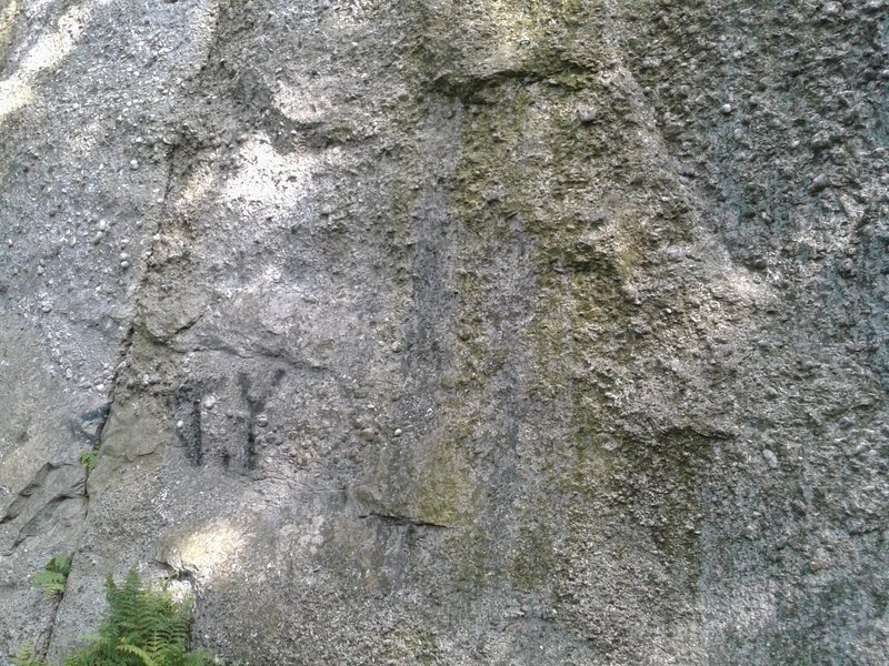 Rock Climbing Photo: The right facing, left leaning small corner is see...