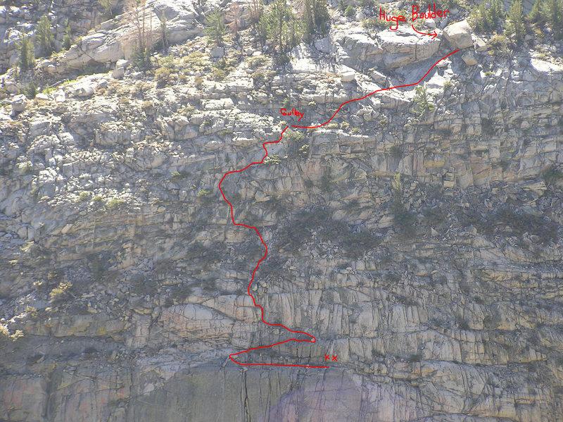 Ellery Lake final approach gulley