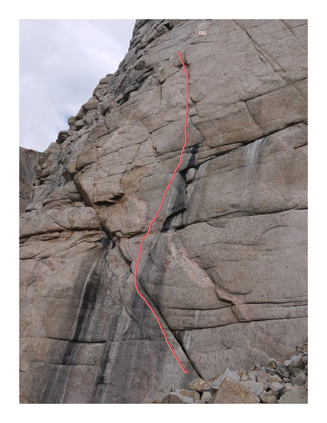 Rock Climbing Photo: Fire Danger topo.