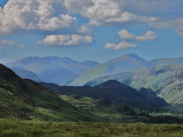 Rock Climbing Photo: Looking towards Great Gable on the right and Engla...
