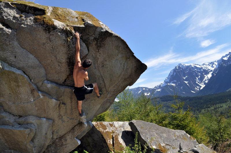 Rock Climbing Photo: Jason Blanks on Bob's Balls