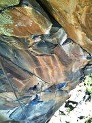 Rock Climbing Photo: Upper boulder problem