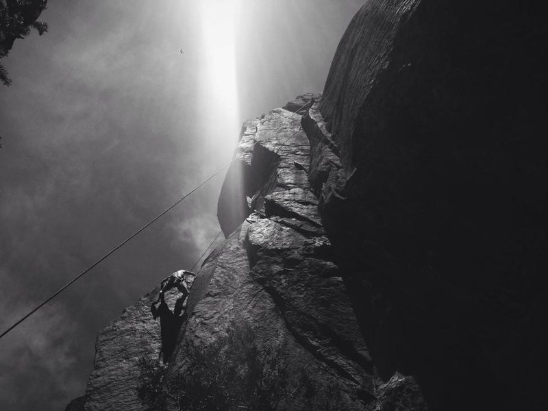 Rock Climbing Photo: Giving the variation a whirl on TR.  Pretty amazin...