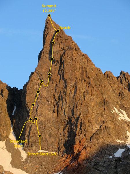 Rock Climbing Photo: Southeast Face, Clyde Minaret.