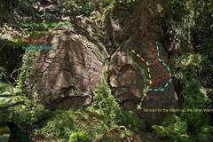 Rock Climbing Photo: Topo Warm-up Boulder