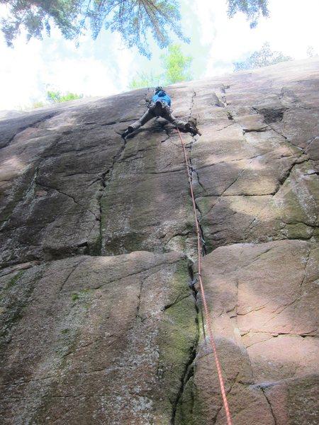 Rock Climbing Photo: Lisa on Afterburner