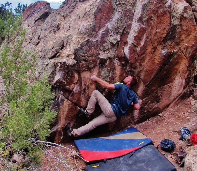 Rock Climbing Photo: Start beta to Consequence of Kick.