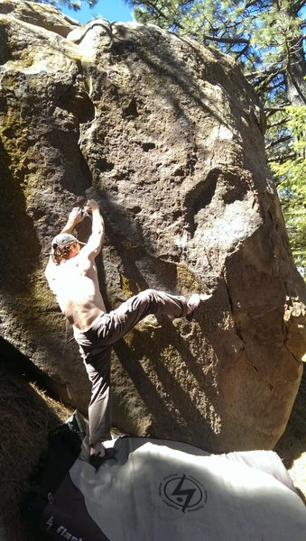 Starting holds and a whole lot of white boy sun glare.