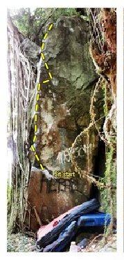 Rock Climbing Photo: Highball arete topo