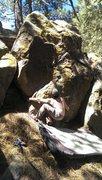 Rock Climbing Photo: Silly sit start.