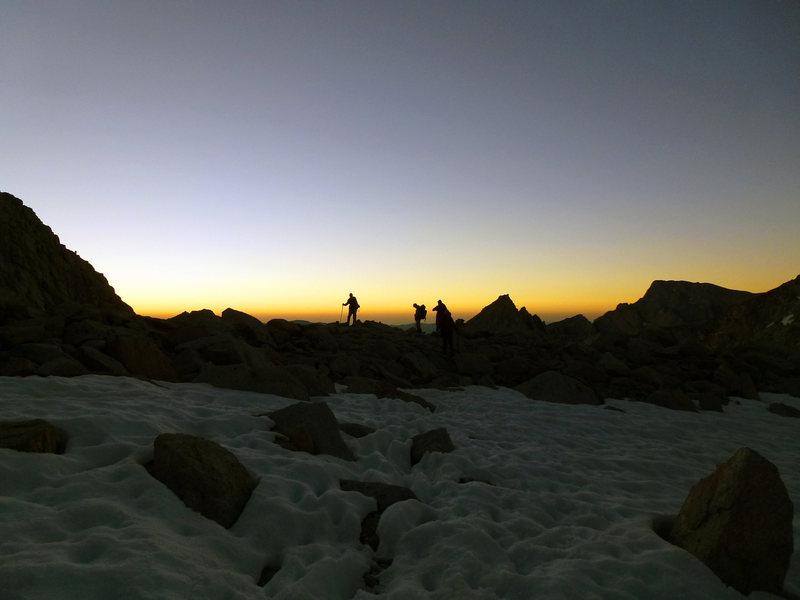 Cresting prior to Iceberg Lake
