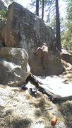 Rock Climbing Photo: High step on Unnamed 2