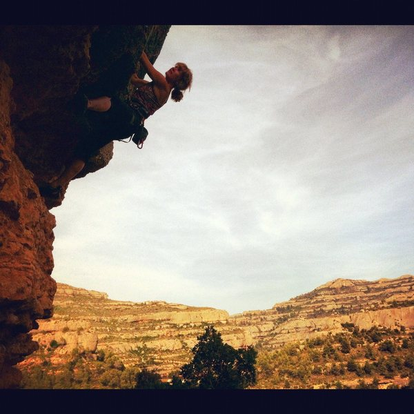 Rock Climbing Photo: Fun climbing in Margalef (can't remember the route...