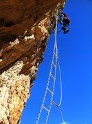 "Rock Climbing Photo: Rest day fun on a ""modern"" via ferrata a..."