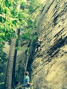 Rock Climbing Photo: When you're climbing with a friend who has permiss...