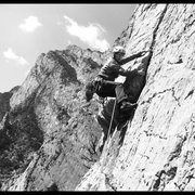 "Rock Climbing Photo: Toward the top of the classic multi pitch ""Sm..."