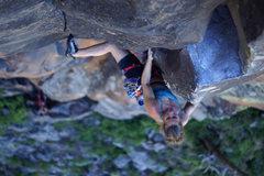 Rock Climbing Photo: Tamara Hastie unlocking the cruxy intricacies of N...