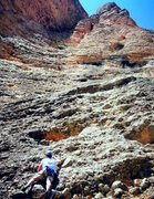 Rock Climbing Photo: Pitch 1 of Directa as Cimas.