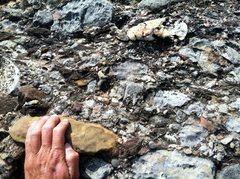 Rock Climbing Photo: Montserrat conglomerate on Via del Carles.