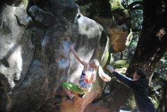 Rock Climbing Photo: Courtney Ceran sending the Heuco Wall V6 @Verve