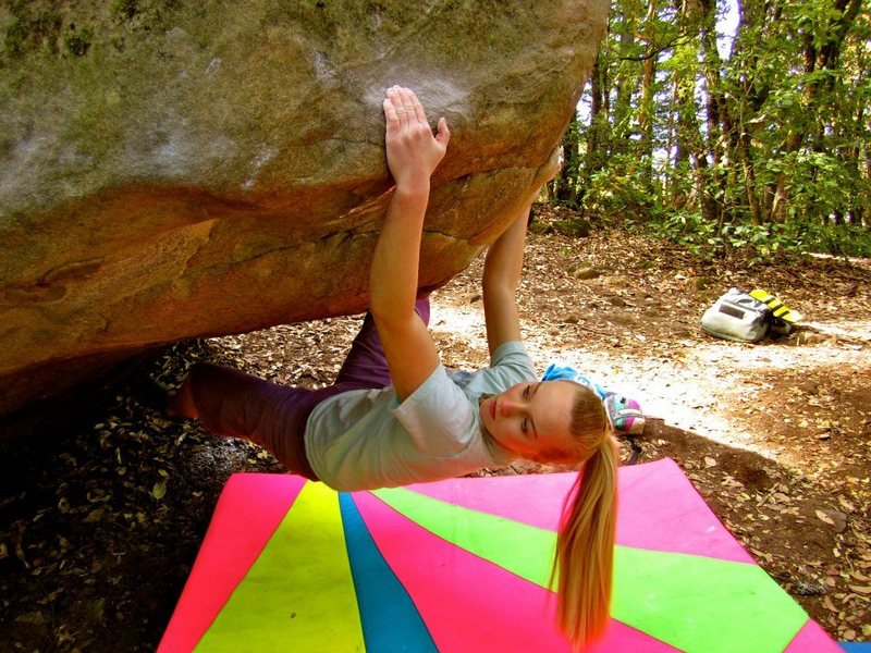 "Rock Climbing Photo: Courtney Ceran on ""Static Reach"" V8, Ind..."