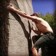 "Rock Climbing Photo: Pulling hard on ""Mohammed.."""