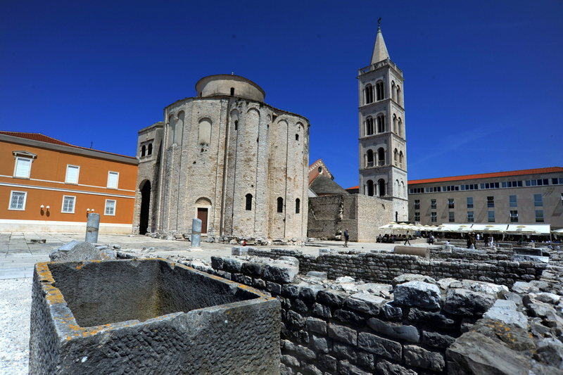 Old Roman forum in Zadar, Croatia.  A great place for a rest day when climbing in Paklenica.