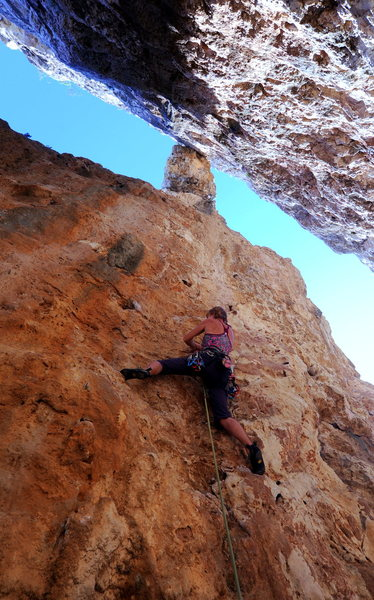 Rock Climbing Photo: One of the several shaded climbs located behind th...