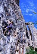 Rock Climbing Photo: Cliffbase climbing with the freestanding tower in ...