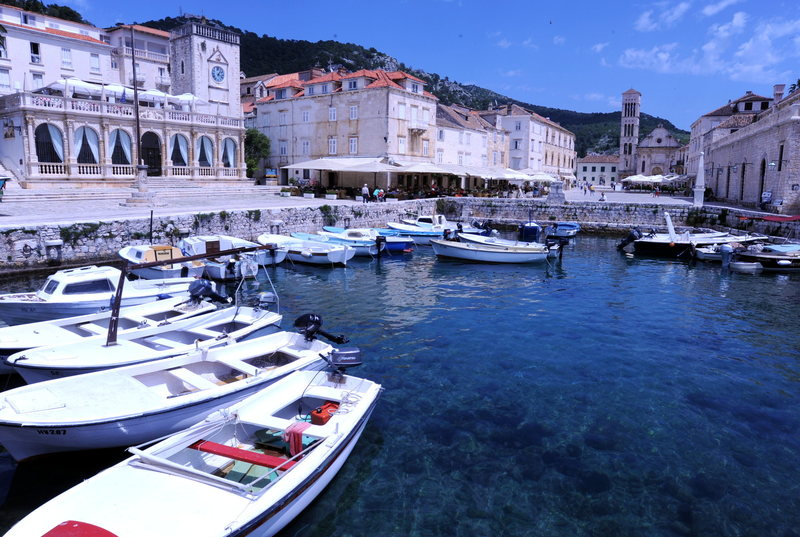 Rock Climbing Photo: The harbor in Hvar town.