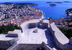 Rock Climbing Photo: Looking at Hvar town from the old fortress above t...
