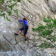 "Rock Climbing Photo: Interesting rock on ""Minerva"" (6a+) in s..."
