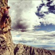 Rock Climbing Photo: Climbing at sector Crljenica, the obvious orange c...