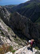 "Rock Climbing Photo: The ""Brid"" finish puts you 20 minutes fr..."
