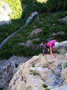 "Rock Climbing Photo: ""Nosorog"" (5.7), one of many fun, modera..."