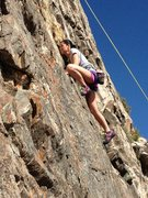 Rock Climbing Photo: My daughters first climb ever!!!!