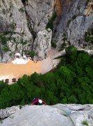 "Rock Climbing Photo: Looking down on sector Klanci from ""Karamara ..."